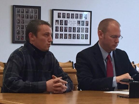 Daniel Perski with his attorney, David Glancy.