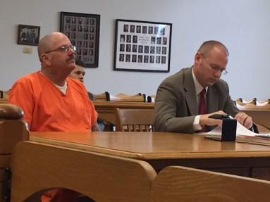 Robin Sarres with his attorney, David Glancy.