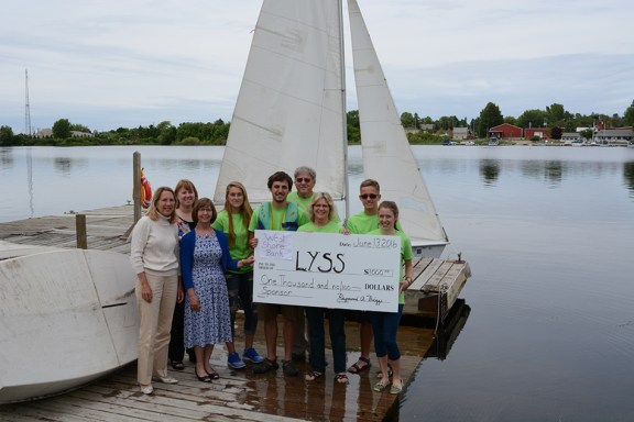 lyss youth sailing school west shore bank donation