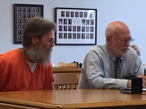 -Fargo with his attorney, Douglas Stevenson.