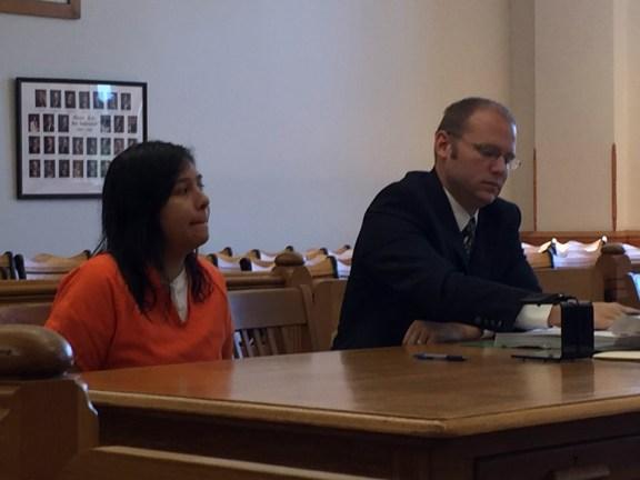 Juliana Quiroz with her attorney, David Glancy.