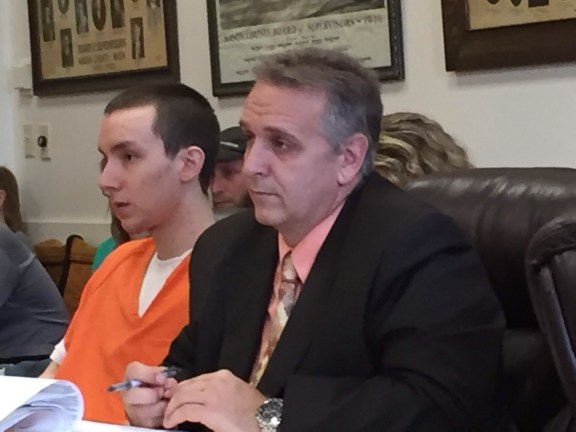 Scott MacArthur with his attorney, Al Swanson, Jr.