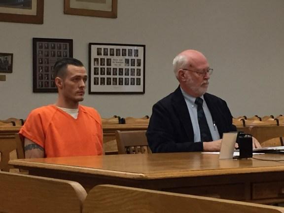 Jason Carr with his attorney, Douglas Stevenson.