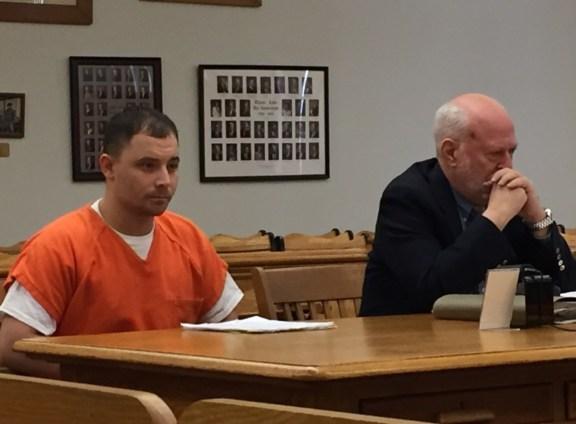 Gary Maccune with his attorney, Douglas Stevenson.