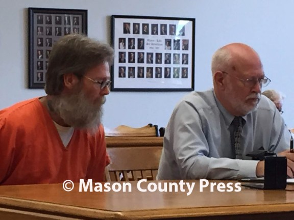 Saporita-Fargo with his attorney, Douglas Stevenson. MCP file photo.