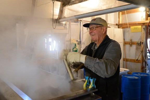 Dan Kistler continues to work the sugar shack at 85-years-old.