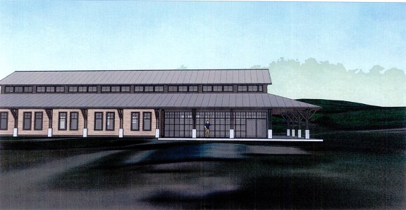 Proposed new visitor center concept drawing.