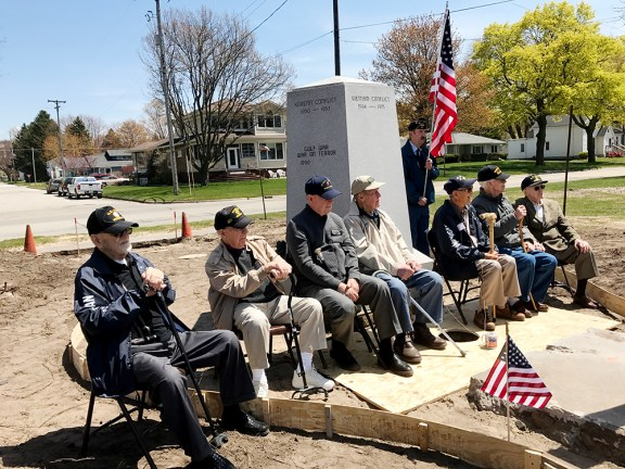 Seven area World War II veterans attended the event.