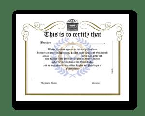 Free Masonic Certificates Masonicacademy