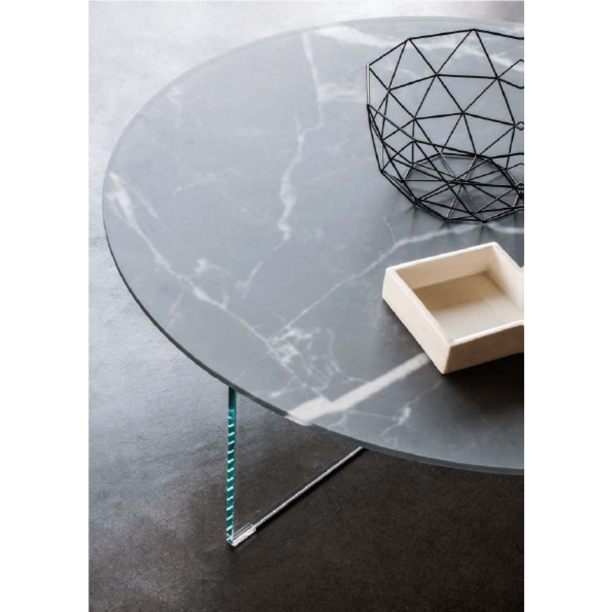 air xglass round coffee table