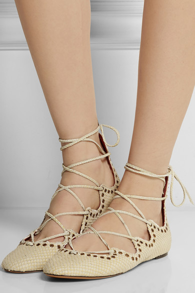 lace up flats beige isabel marant
