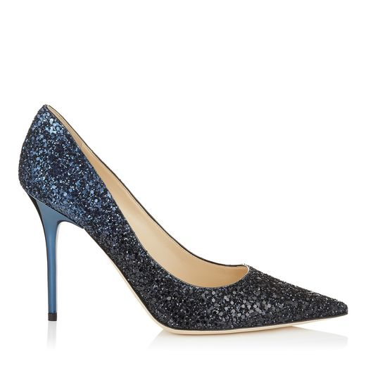 pumps azul degradado glitter jimmy choo