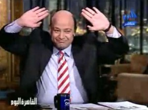 عمرو اديب و احداث مباراة مصر والجزائر في السودان