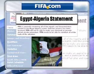 الفيفا و قرار اعادة مباراة مصر والجزائر