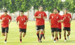 تدريبات منتخب مصر استعدادا لمباراة مصر والجزائر
