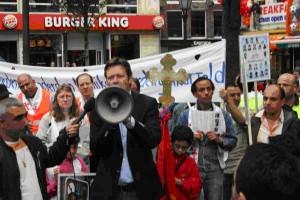 مظاهرات الاقباط ضد احداث فرشوط وملوى و ديروط