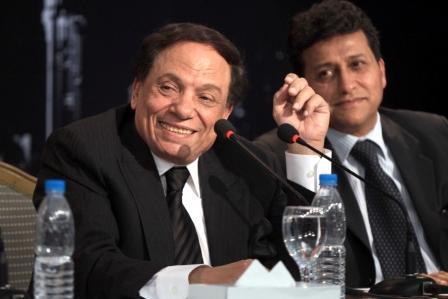 عادل امام يكشف سر خالد الجندي في مؤتمر اكاديمية الزعيم