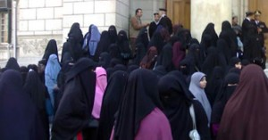 طالبات جامعة القاهرة المتقبات