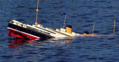 غرق احدى مراكب الصيد في مرسى مطروح