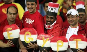 علاء و جمال مبارك في انجولا 2010 لحضور و مشاهدة مباراة مصر وغانا