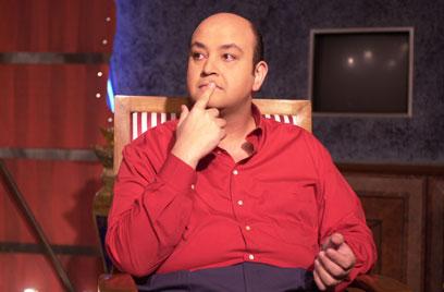 عمرو اديب : ينفعل بسبب جدو ويسيء للرسول