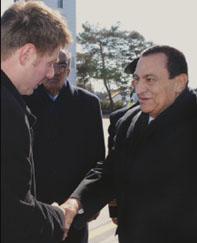 الرئيس مبارك في المانيا