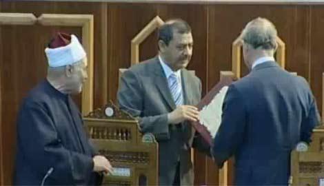 احمد الطيب رئيس جامعة الازهر يتولى المشيخة رغم انف الاخوان والسلفية