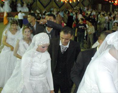 زفاف جماعي لأيتام الخانكة