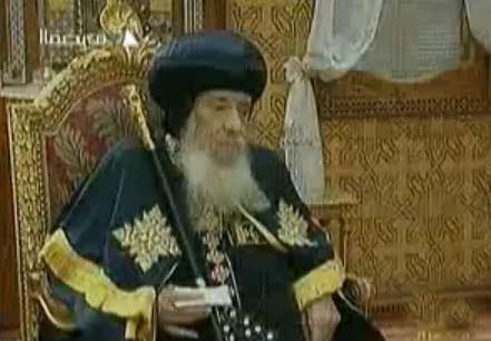 البابا شنودة في قداس عيد القيامة 2010 يدعو بالبركة والسلام لمصر