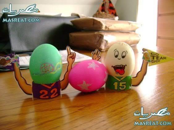 صور رسم بيض شم النسيم