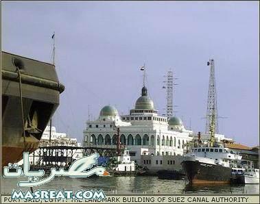 حريق الباخرة السعودية رحمة في قناة السويس بورسعيد