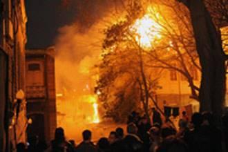 حريق سوق التونسي في القاهرة و 6 ضحايا حتى الان