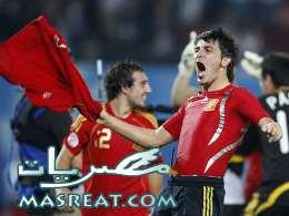 اهداف مباراة اسبانيا وتشيلي