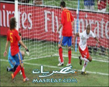 نتيجة و اهداف مباراة اسبانيا وسويسرا وصدمة بعد خسارة المرشح للقب