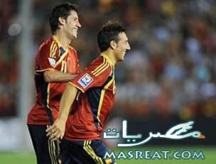 اهداف مباراة اسبانيا و باراجواي .. دافيد فيا امام انريكي فيرا اليوم