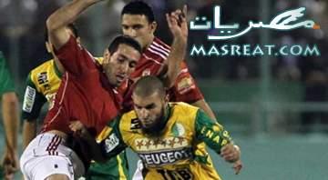 نتيجة مباراة الاهلي وشبيبة القبائل النهائية التعادل الايجابي بعشر لاعبين