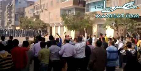 مظاهرة الاقباط في المنيب للافراج عن معتقلي احداث كنيسة العمرانية