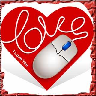 الحب على النت