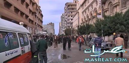 احداث اسكندرية : فيديو فتاة تبحث عن والدها بين ضحايا احداث اسكندرية