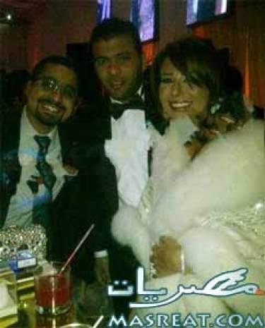 صور عماد متعب وزوجته يارا نعوم في فرح ابنة غادة عبد الرازق