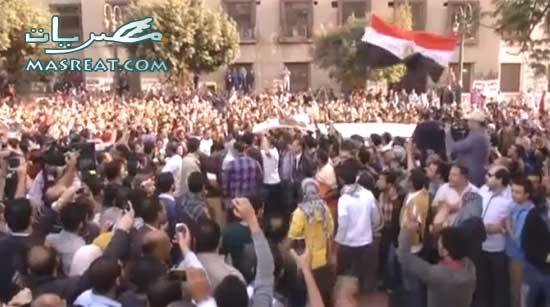 ميدان التحرير اليوم - مليونية للثورة شعب يحميها مباشر الان