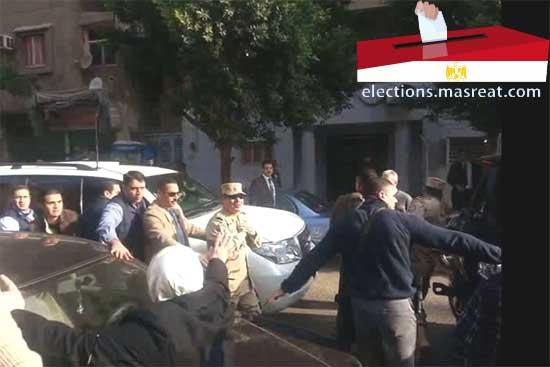 الفريق عبد الفتاح السيسي يشرف على لجان الانتخابات اليوم