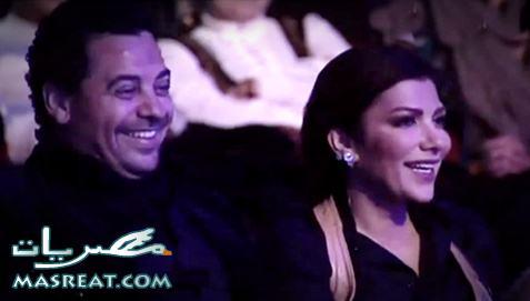 اصالة وزوجها في برنامج باسم يوسف قبل غناء باسم يوسف اغنيه معها في برنامج صولا