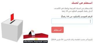 طريقة معرفة اللجنة الانتخابية بالرقم القومى وبالاسم