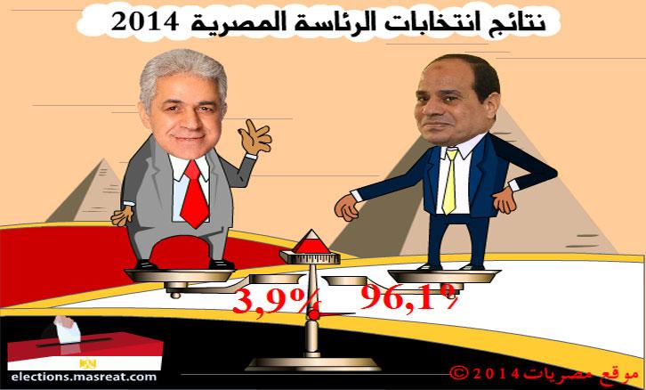 نتائج الانتخابات الرئاسية 2014 بث مباشر وحي من مصر الان