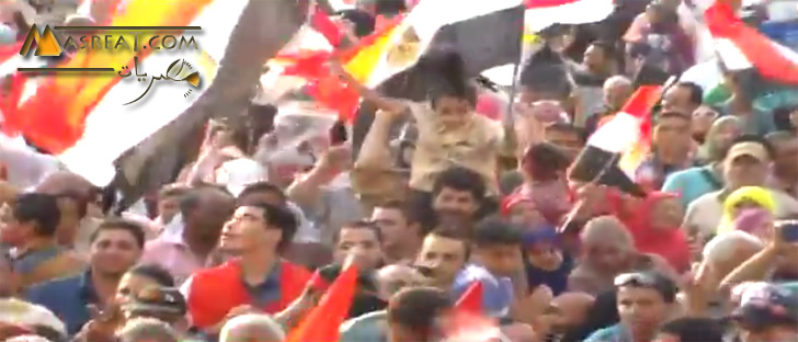 المصريون يحتفلون بالمشير عبد الفتاح السيسي رئيسا لمصر