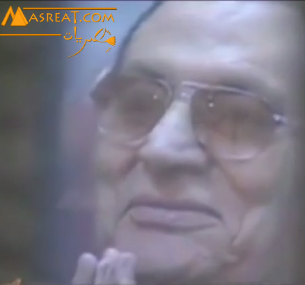 ضحكة حسني مبارك في جلسة المحاكمة