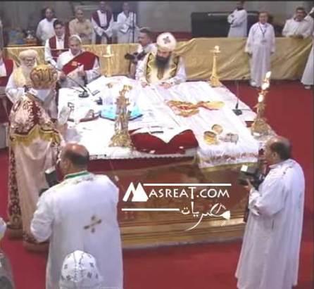 مشاهدة بث مباشر اون لاين الان قداس عيد القيامة المجيد في مصر اليوم من الكاتدرائية المرقسية بالعباسية الآن