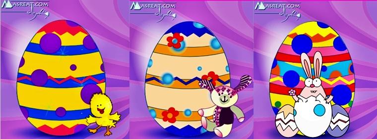 لعبة تلوين بيض عيد القيامة