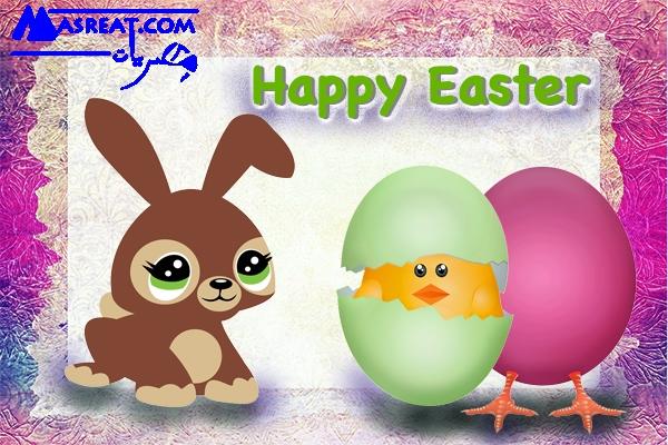 صور ارنب عيد الفصح مع البيضة والكتكوت